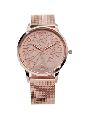 Armbanduhr Tree of Life Rosé