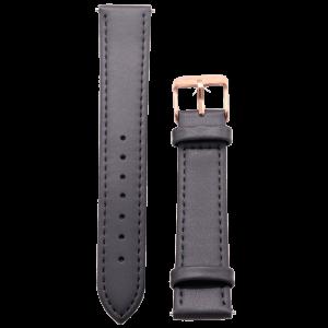 Leder Uhrband grau