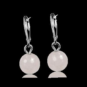 Ohrring Rosenquarz Crystal