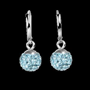 Ohrring Crystal Aqua Blue / Farbe des Wassers