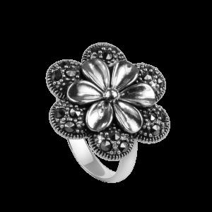 Markasit Blumenring mit verstellbarer Schiene