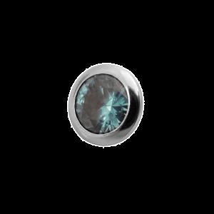 Masterpiece Schraubelement Glamour Crystal Aqua Blue