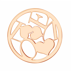 deCoins Inlay Love-Heart Rosé