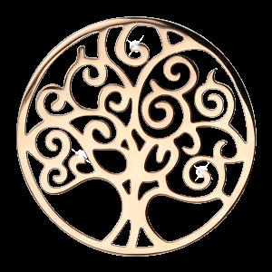deCoins Inlay Baum des Lebens Rosé
