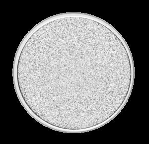 deCoins Inlay Glitzer Silber