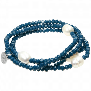 Armband Crystal Blue Pearl