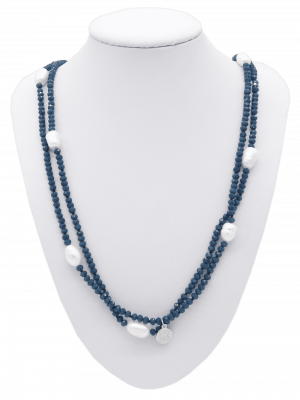 Collier Crystal Blue Pearl