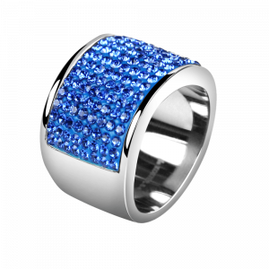 Ring Crystal Sapphire / Farbe des Himmels