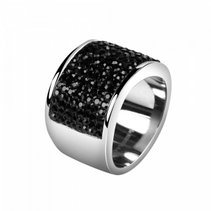Ring Crystal Jet Black