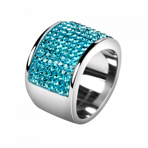 Ring Crystal Blue Zircon