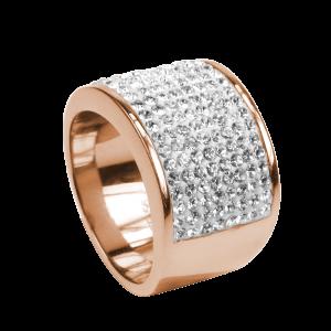 Ring Crystal White Rosé  / Reines Leben