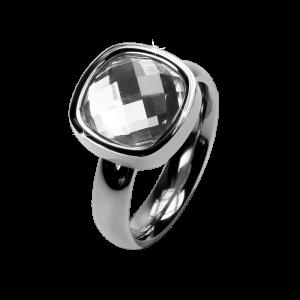 Ring Facettes White