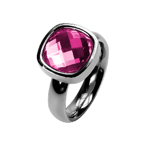 Ring Facettes Rosa