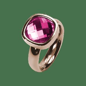 Ring Facettes Rosa Rosé