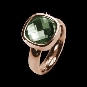 Ring Facettes Olive Rosé