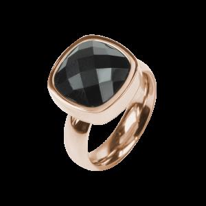 Ring Facettes Jet Rosé