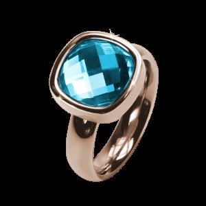 Ring Facettes Aquamarine Rosé
