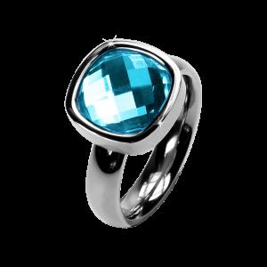 Ring Facettes Aquamarine