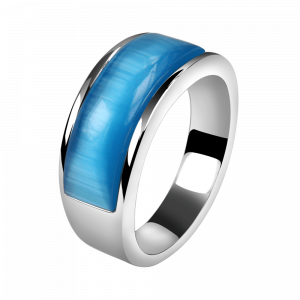 Ring Cat Eye Blue