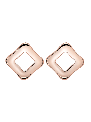 Ohrringe Square Rosé