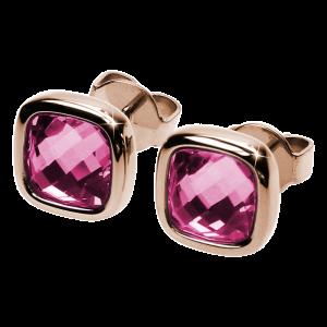 Ohrringe Facettes Rosa Rosé