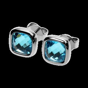 Ohrringe Facettes Aquamarine