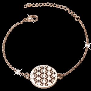 Armband Blume des Lebens Rosé
