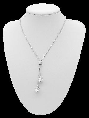 Y-Collier Crystal weiß 71 cm