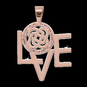 Anhänger dekoster Love Rosé