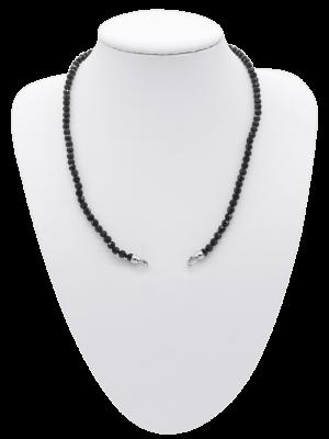 Crystal Kette schwarz - diverse Längen