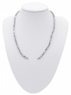Crystal Kette grau - diverse Längen