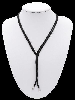 Boloband aus Seide - Schwarz