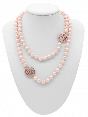 Collier Glamour Power Pearl Rosé