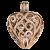 Harmony Herz Anhänger Roségold