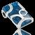 Anhänger Avantgarde blue